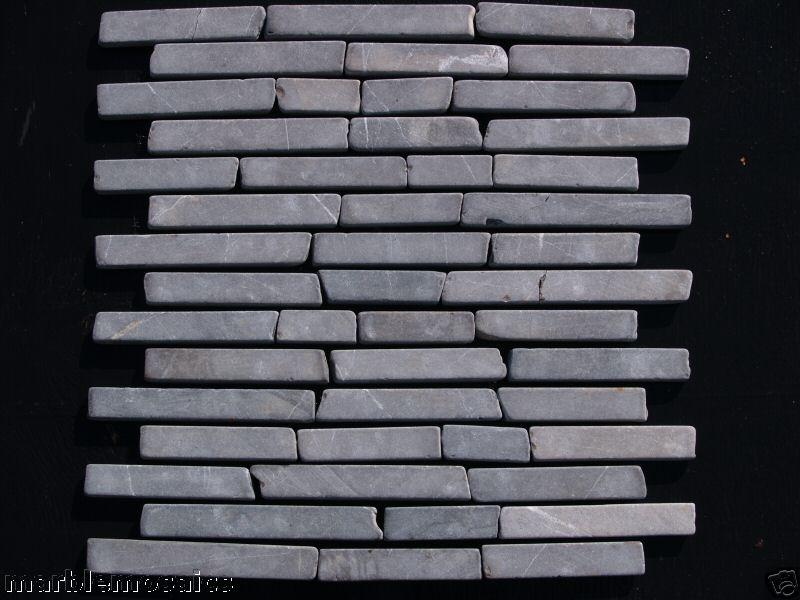 Grey Tumbled Marble Brickbone Marble Mosaic Tiles wall & floor tiles